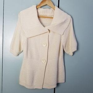 Michael Kors cream button up cardigan size M -B1